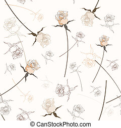 Beautiful seamless rose pattern