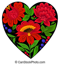 floral backgrounds, heart
