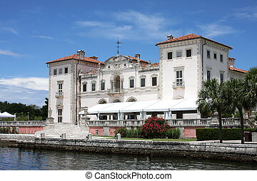 East Terrace of Vizcaya Museum in Miami,Fl