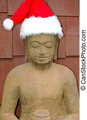 Budda santa - Budda santa posing outside