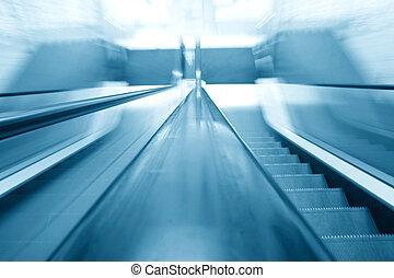 transportation escalator - escalator transportation motion...