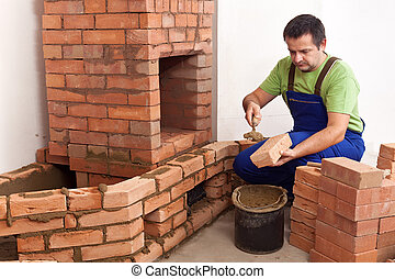 Building a masonry heater - Construction of a masonry heater...