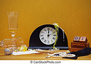 New Year party still life