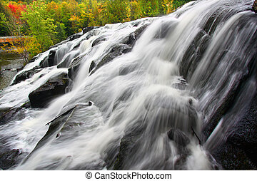 Bond Falls Michigan - Bond Falls Scenic Area on an autumn...