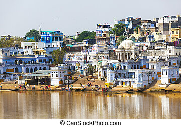 View of the City of Pushkar, Rajasthan, India. - View of the...