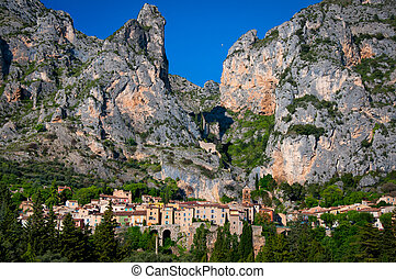 Moustiers Sainte Marie village in Provence - Moustiers...