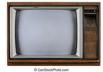 Vintage Television - Old vintage TV with numerical buttons...