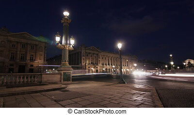 Place de la Concorde. Timelapse.
