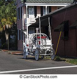 White Carriage on Street