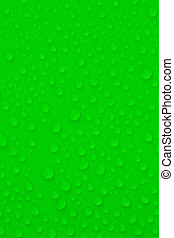 Water-drops on green background