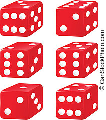 dice - illustration of six dice on a white background