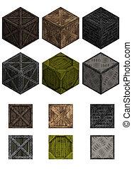 Isometric crates