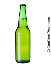 Lager beer in green bottle - Beer collection - Cold lager...