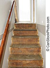 old steps renovating