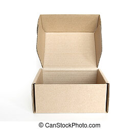 empty cardboard open box