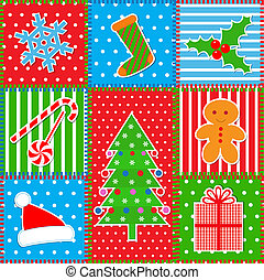 Christmas patchwork background