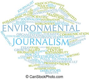 Environmental journalism - Abstract word cloud for...