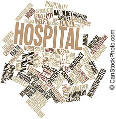 Hospital - Abstract word cloud for Hospital with related...