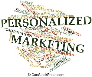 Word cloud for Personalized marketing - Abstract word cloud...