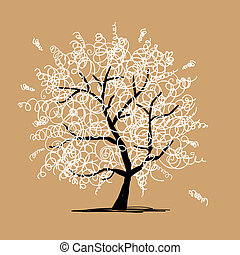 Abstract frizzy tree for your design