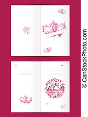 Wedding card design with place for your text Cover and...