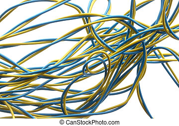 Colorful electrical wire