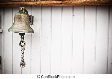 ship's Bell on an old sailboat - ship's Bell on an old...