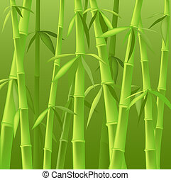 bamboo trees - design of bamboo trees, illustration...