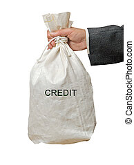 Bag with credit