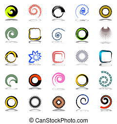 Design elements set Abstract icons Vector art
