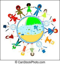 children world - preschool world - four designs with kids,...