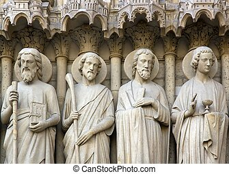the apostles of Notre-Dame-de-Paris Paris France
