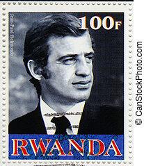 RWANDA - CIRCA 2003 : stamp printed in Rwanda shows Jean...