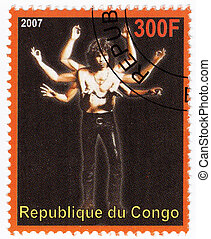 Congo - CIRCA 2007 : Stamp printed in Congo with American...