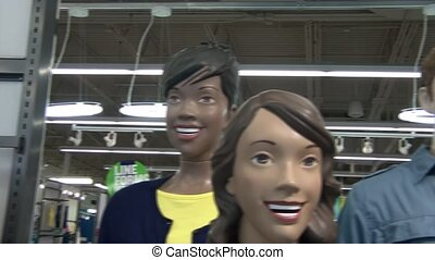 Scan of Happy Mannequins - Horizontal scan of mannequins...