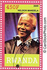 Ruanda, -, circa, 2009, :, Nelson, Mandela, -, anterior,...