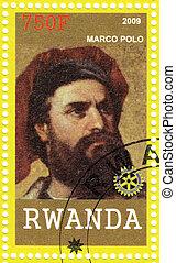 RWANDA - CIRCA 2009: Stamp printed in Rwanda shows Marco...