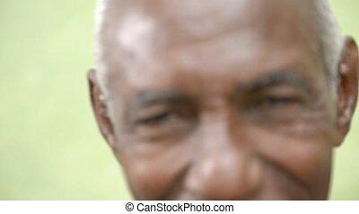 Elderly people portrait, old man