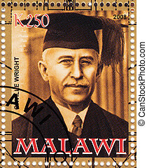 MALAWI - CIRCA 2008 : stamp printed in MAlawi shows Orville...
