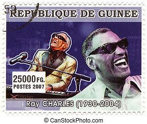 REPUBLICA GUINEA - CIRCA 2007 : Ray Charles - famous...