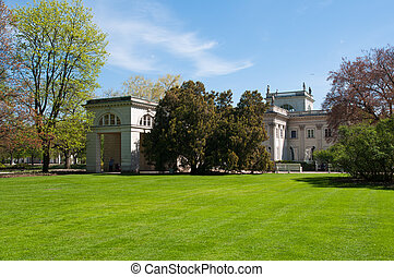 Lazienki Park - Polish Lazienki Park in Warsaw poland