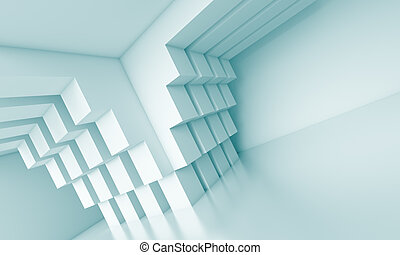Creative Interior Concept - 3d Blue Creative Interior...