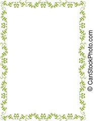 Green floral border - Illustration of a green floral frame