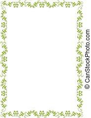 Green floral border - Illustration of a green floral frame