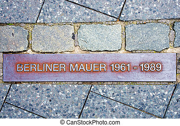 berlin wall - memorial of the berlin wall in german text