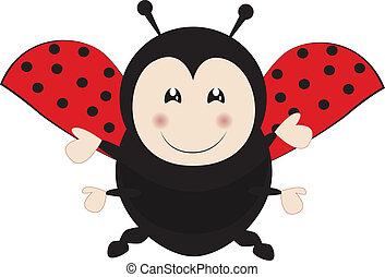 Ladybird - Cute ladybird flying