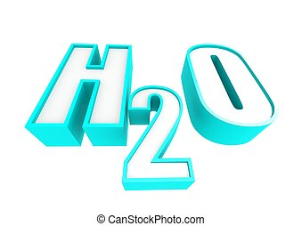 H2O - Rendered artwork with white background