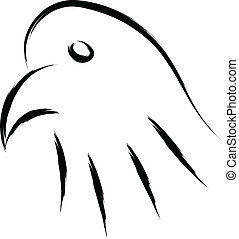 eagle head simple sketch vector