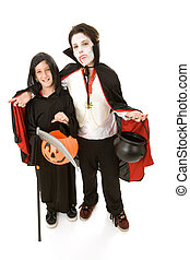 Halloween Kids - Boys in Costume - Two adorable boys in...
