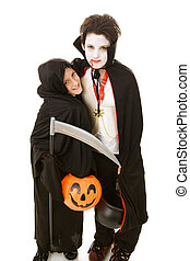 Halloween Kids - Brothers - Two adorable boys dressed in...